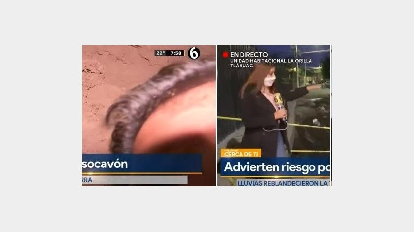 Video viral: Camarógrafo de Multimedios se accidenta con socavón al transmitir en vivo(Captura de video)