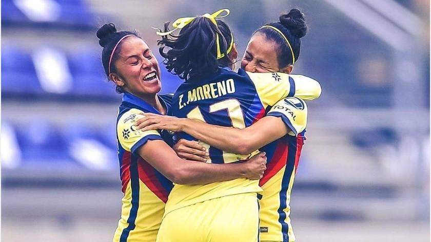¡Festín de goles! América Femenil vence por paliza de 8-0 a Mazatlán FC(Instagram @americafemenil)