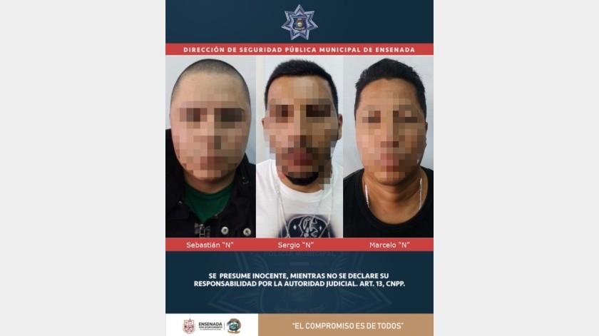 Captura la DSPM a tres hombres por probable robo con violencia a casa de cambio