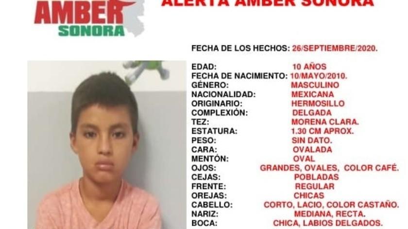 Se activa Alerta Amber para encontrar a Jesús Antonio; desapareció en Hermosillo(Alerta Amber Sonora)
