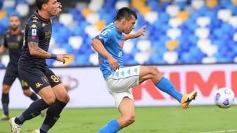 Hirving Lozano definió bien en par de ocasiones ante el Genoa