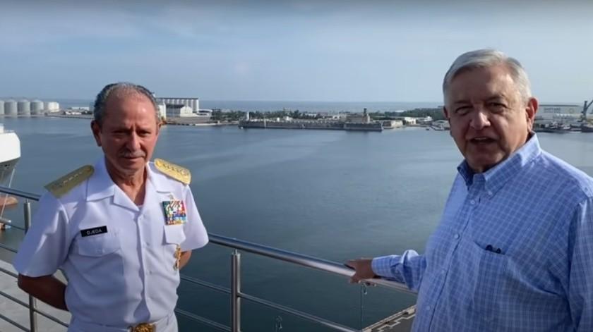 """Vamos a revisar contratos """"leoninos"""" para recuperar puertos del país: AMLO(Youtube Andrés Manuel López Obrador / Captura de Pantalla)"""