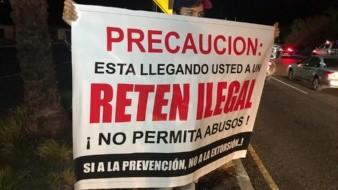 Protestan guaymenses en retén por alcoholímetro en San Carlos
