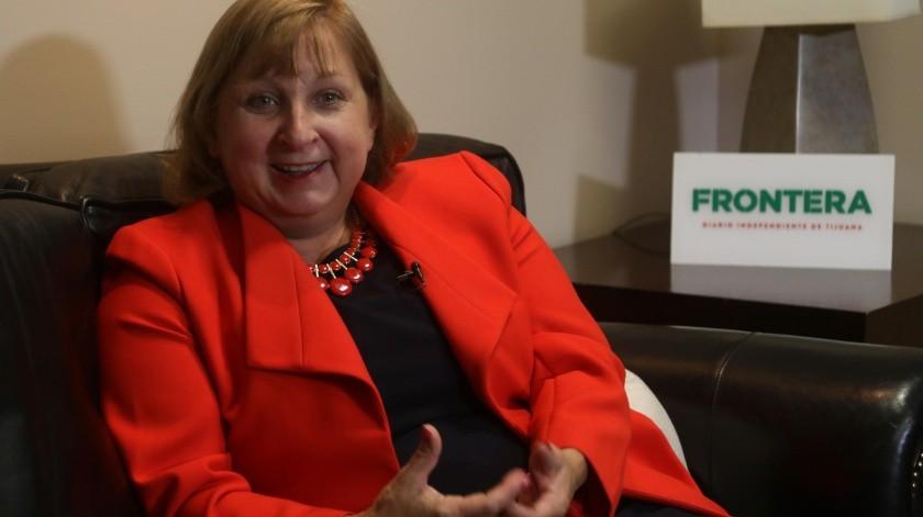 Con dos años frente al Consulado, Sue Saarnio dijo que lo que más le ha impactado es la dinámica transfronteriza.(Jesus Bustamante)