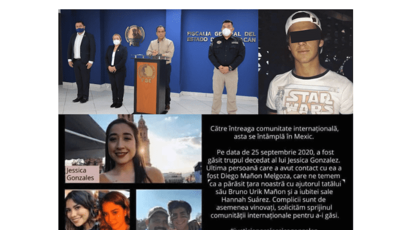 En varios idiomas comparten en redes sociales imágenes del presunto homicida de Jessica, jovencita asesinada.(Especial)