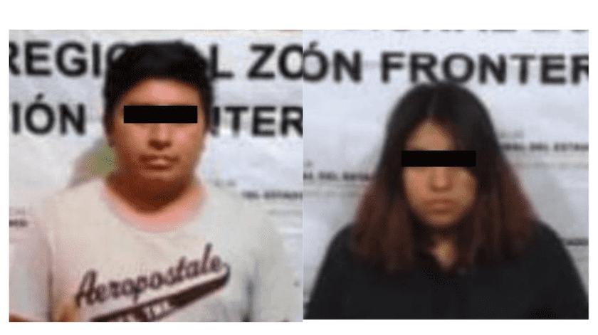 """Erick Enrique """"N"""" y Cecilia """"N"""", fueron identificados como presuntos co-partícipes del feminicidio de Nayeli.(Especial)"""