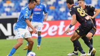 Hirving Lozano anotó par de goles ante el Genoa