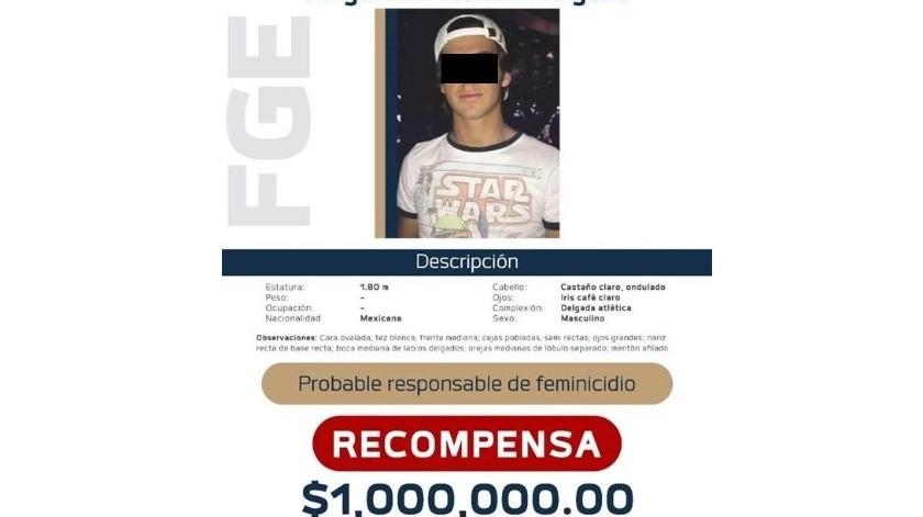 "Por Diego ""N"", presunto feminicida de Jessica, ofrecen 1 millón de pesos como recompensa(Cortesía FGE Michoacán)"