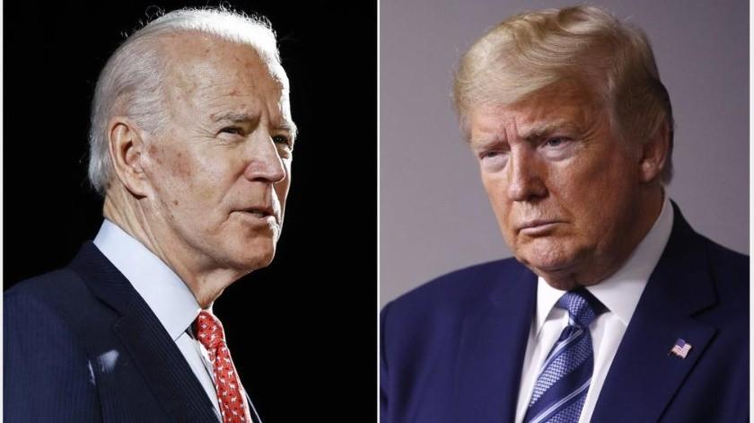Donald Trump y Joe Biden se enfrentarán en un primer debate presidencial.(AP)