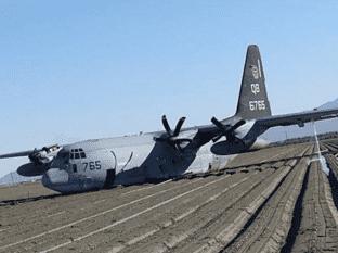 Cae avión militar en Salton City