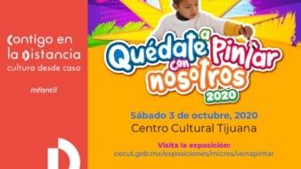 Premiará Cecut a niñas y niños ganadores de 'Quédate a pintar con nosotros'