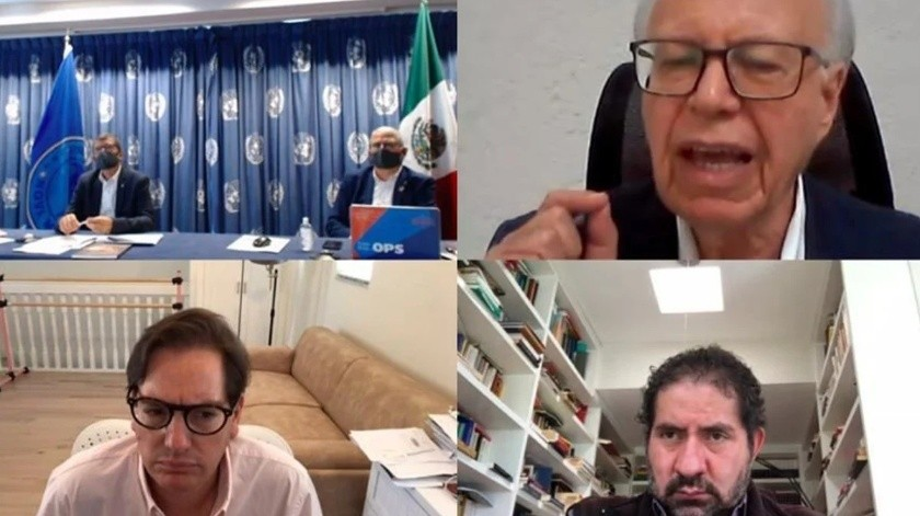 "Ex secretarios de Salud entregan a la OMS fórmula para ""controlar Covid-19""(Captura de video)"