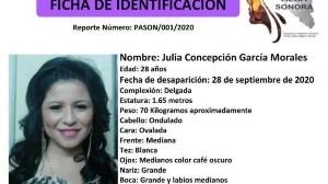 Se activa Alerta Alba para encontrar a Julia Concepción; desapareció en Hermosillo