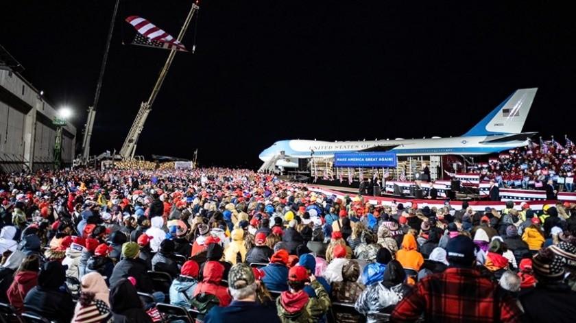 El presidente estadounidense sostendrá un mitin en el aeropuerto.(Especial)