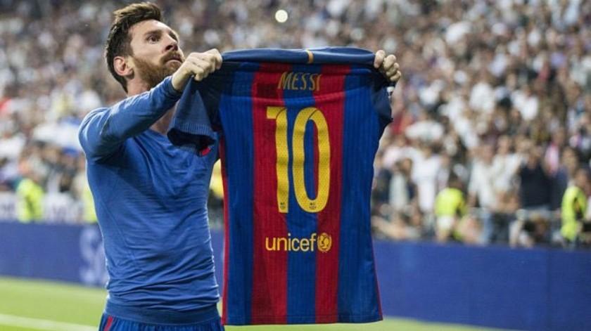 Lionel Messi celebra un gol en el clásico contra Real Madrid en 2017.(Internet)
