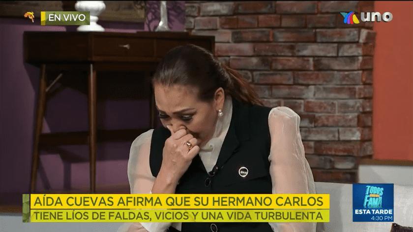 Por primera vez en meses, Aída Cuevas rompe el silencio y da una entrevista sobre sus problemas legales con su hermano Carlos Cuevas.(Tomada de la red)