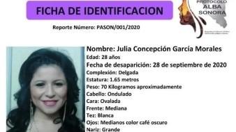 Localizan sana y salva a Julia Concepción; desactivan Alerta Alba