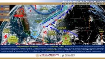 Se ha formador la tormenta tropical Gamma y se dirige a la península de Yucatán, en México.