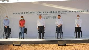 Este viernes en su visita al municipio sonorense en el inicio de la obra de esta unidad del IMSS, dijo que tardaría dos meses en terminar su construcción y estará aquí cuando así sea.