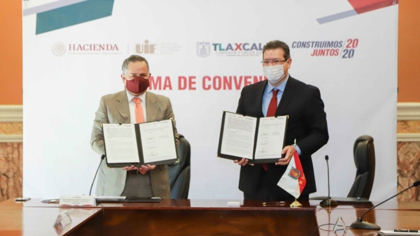 UIF y Gobierno de Tlaxcala crean Unidad de Inteligencia Patrimonial; buscan combatir crimen organizado(Twitter @MarcoAMena)