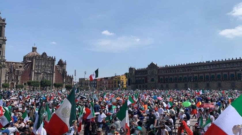"""""""México ya despertó, y Octubre 3 no se olvidará"""", posteó Frenaaa en su cuenta de Twitter.(Especial)"""