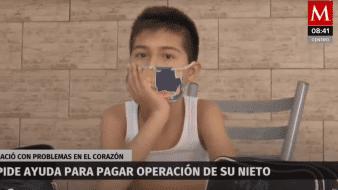 Antonio está ya en la lista de espera para ser operado en el Hospital Infantil de México Federico Gómez.