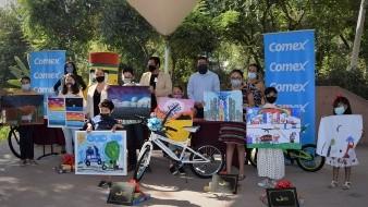 Entrega Cecut premios del concurso 'Quédate a pintar con nosotros'