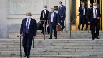 Regresa Trump a la Casa Blanca tras tres días hospitalizado