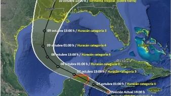 Los modelos de pronóstico indican que Delta ingresaría su centro a tierra durante esta noche o la madrugada del miércoles.