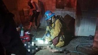 Rescatan a hombre en incendio
