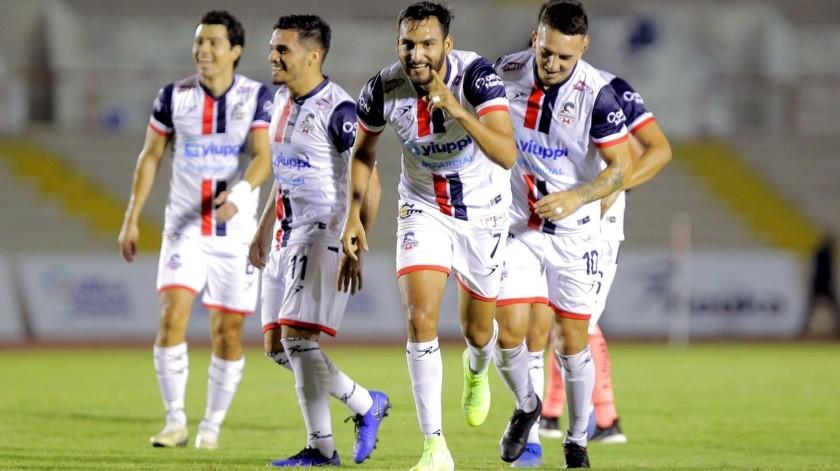 Ángel López celebra el segundo gol de Cimarrones de Sonora(Eleazar Escobar)
