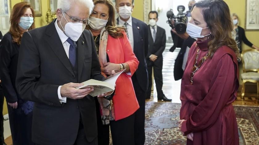 La SRE indicó que la delegación mexicana expresó la invitación presidencial a que el gobierno italiano acompañe a nuestro país en el programa de conmemoraciones históricas emblemáticas a realizarse en septiembre de 2021.