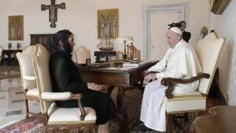 Beatriz Gutiérrez Müller se reunió con el Papa Francisco en el Vaticano.
