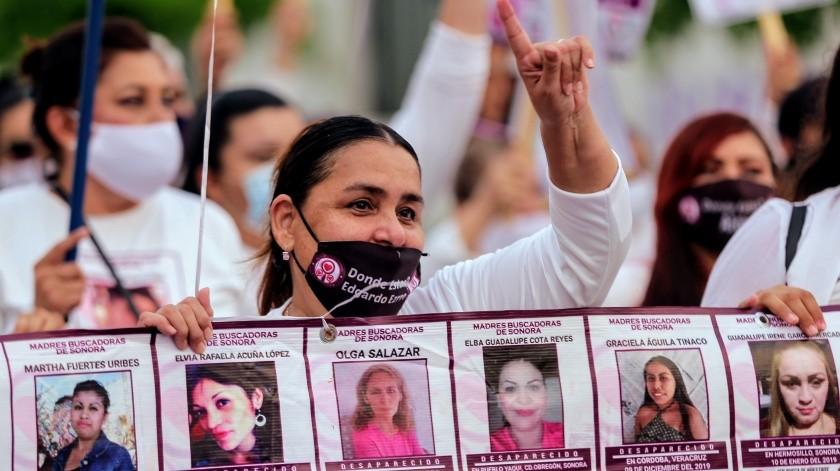 Comentaron que la mayoría de las desaparecidas son mujeres menores de 30 años de edad.(Foto: Banco Digital /Marcha por el día internacion del desaparecido)