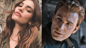 Lily James y Chris Evans fueron captados muy románticos en Londres el pasado julio.