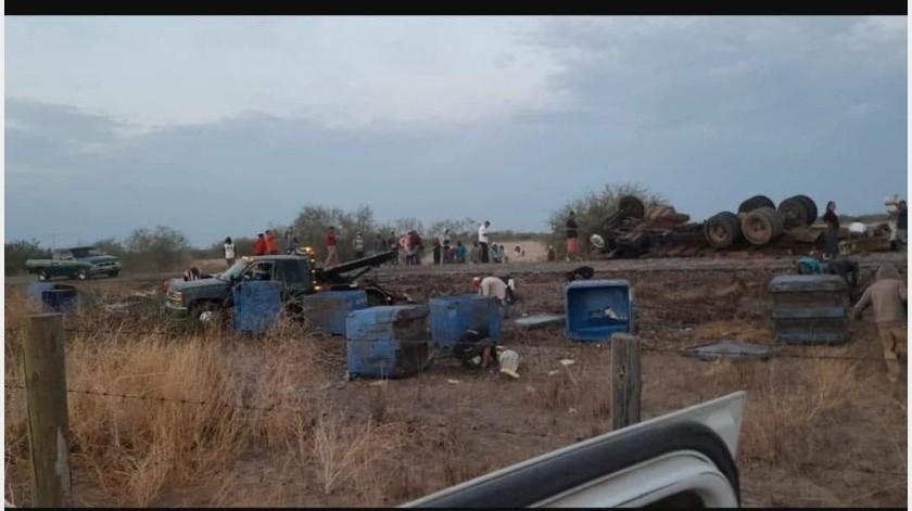 El accidente fue en el kilómetro 9 del Poblado Miguel Alemán.(Carlos Romero, cortesía.)