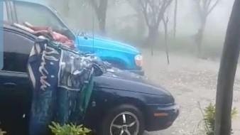 VIDEO: Fuerte 'granizada' llega con la lluvia a comunidad cercana a Álamos