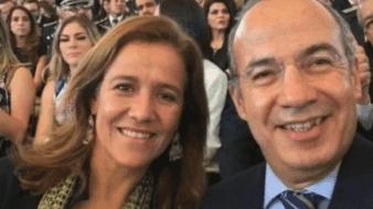 El expresidente Felipe Calderón Hinojosa y Margarita Zavala.