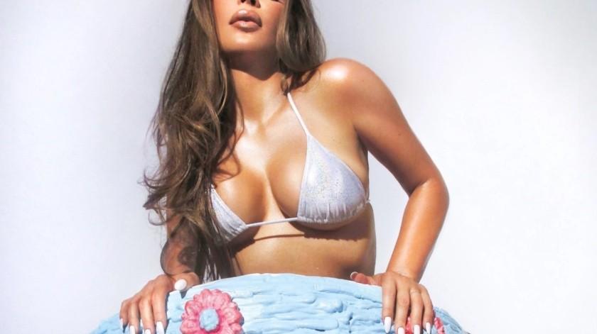 El próximo 21 de octubre será el cumpleaños número 40 de Kim y celebrará su cumpleaños lanzando al mercado su nueva línea de productos de belleza Opalescent Collection.(@everyhour)