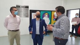 El representante de la OMS realizó un recorrido en la Arena Sonora, para constatar el proceso de atención a casos sospechosos