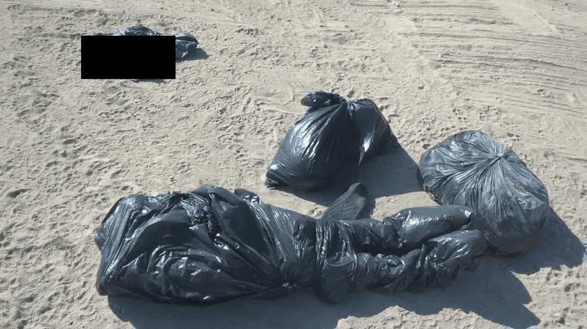Dejan restos humanos en bolsas negras cerca de la carretera a Tijuana