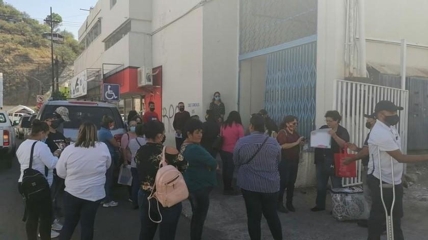 Madres Buscadoras de Sonora acudieron a las instalaciones de la Comisión Nacional de Derechos Humanos(Manuel Jiménez)