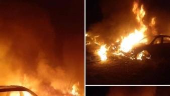 Doce vehículos se incendiaron en el corralón Las Minitas: Bomberos de Hermosillo