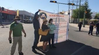 El plantón se instaló alrededor de las 10:00 horas del viernes, en Rosales e Hidalgo