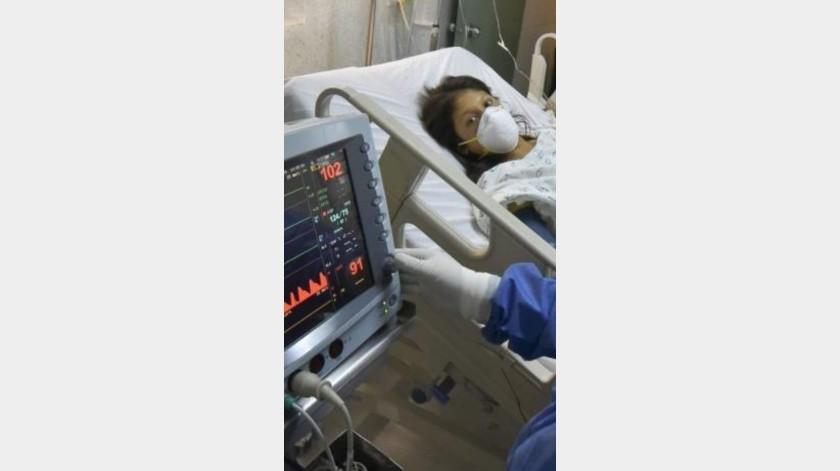 Fernanda ya estuvo internada unos días y le dieron medicamento para controlar el dolor, pero requiere ser operada(Especial)
