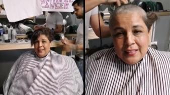 """""""A rape"""" pide el cabello, solidaria con quienes sufren cáncer de mama"""
