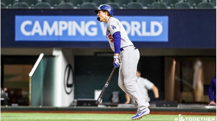 Corey Seager remolcó tres carreras con dos jonrones.(@Dodgers)