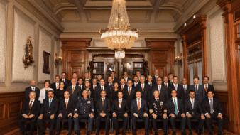 Gabinete del ex presidente Enrique Peña Nieto en el Sexto Informe de Gobierno.