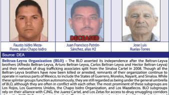 Documento de la DEA donde aparecen Patrón Sánchez, ligado entonces a la organización de los Beltrán Leyva.