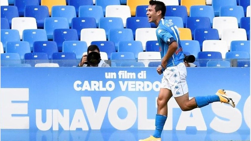 Hirving Lozano llegó a cuatro goles en la Serie A.(EFE)